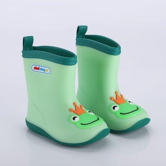 Children's Rubber Boots Boys Girls PVC Rain Boots Waterproof Non-Slip Shoes Cartoon Children's Water Shoes Girls' Boots KS646 4