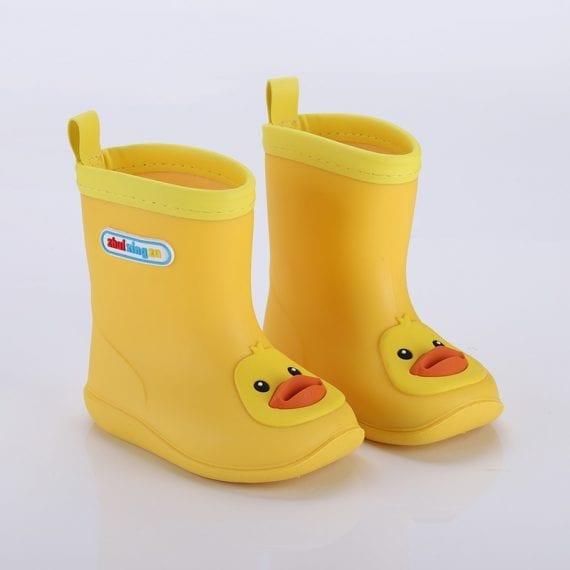 Children's Rubber Boots Boys Girls PVC Rain Boots Waterproof Non-Slip Shoes Cartoon Children's Water Shoes Girls' Boots KS646 3