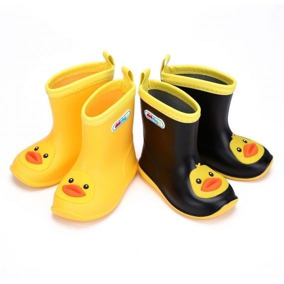 Children's Rubber Boots Boys Girls PVC Rain Boots Waterproof Non-Slip Shoes Cartoon Children's Water Shoes Girls' Boots KS646